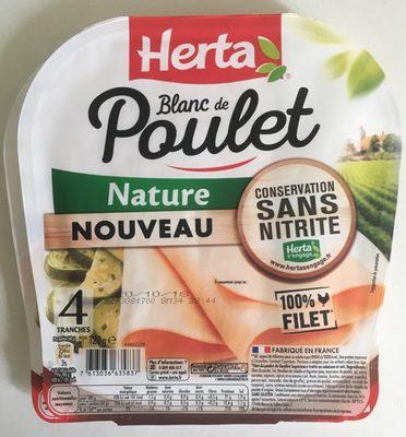 Blanc de Poulet Nature 4 tranches Sans Nitrite - Product - fr