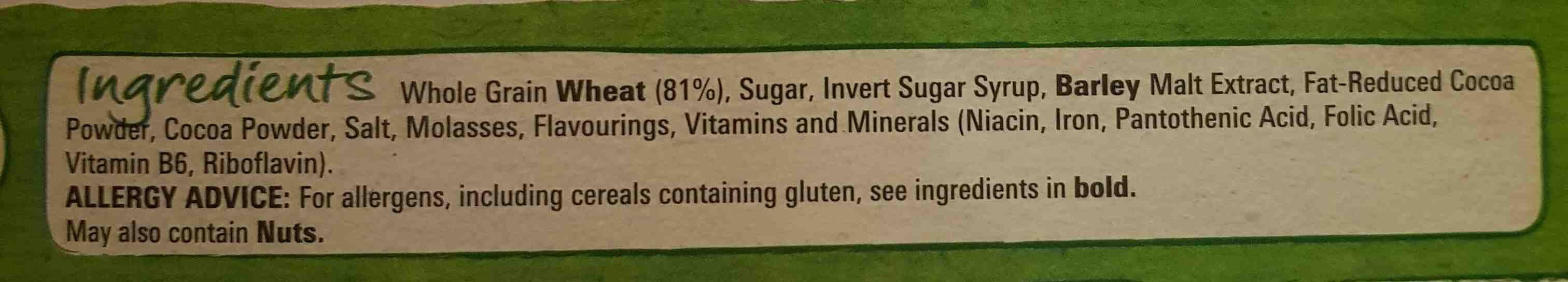coco caramel Shreddies - Ingredients