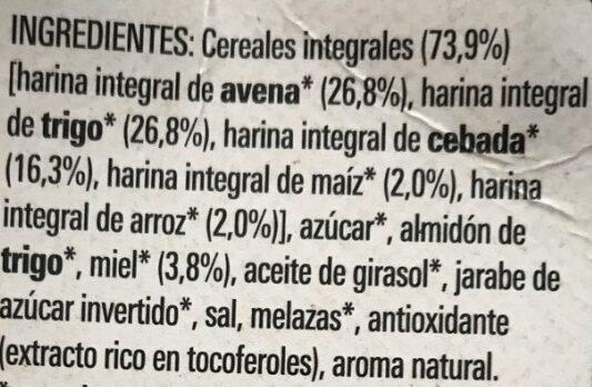 Cheerios Bio - Ingredients - es