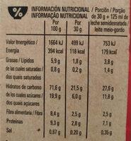 Cheerios Bio - Informação nutricional - pt