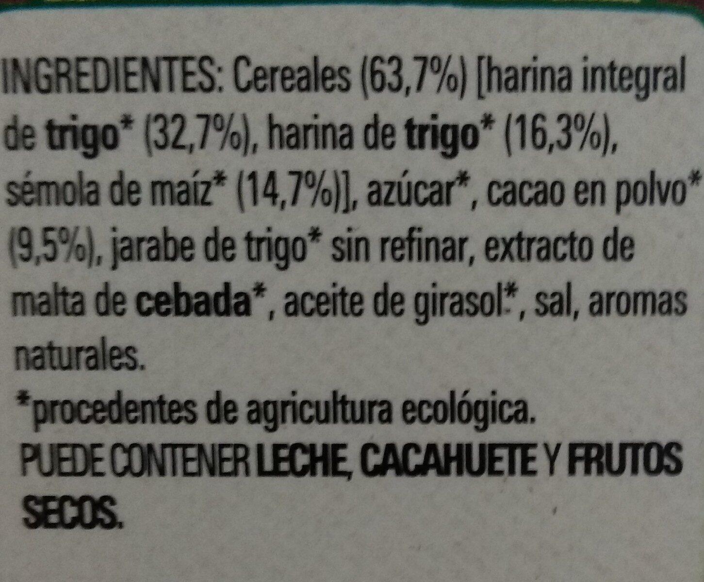 Chocapic bio - Ingredientes - es