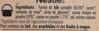 NESTLE NESQUIK BIO Céréales - Ingrédients - fr