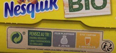 NESTLE NESQUIK BIO Céréales - Instruction de recyclage et/ou informations d'emballage - fr