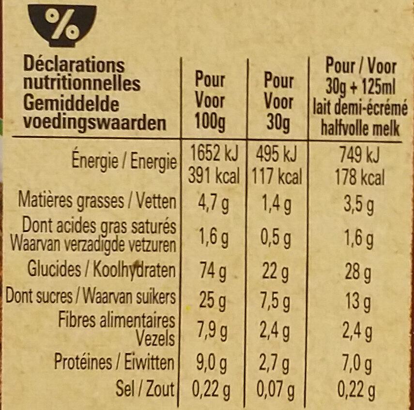 Chocapic Bio - Voedingswaarden - fr