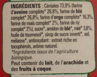 NESTLE CHEERIOS BIO Céréales - Ingredients - fr