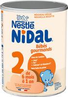 NESTLE NIDAL 2 Bébés Gourmands Lait de suite 2ème âge 800g de 6 mois à 1 an - Produit - fr