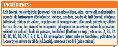 NESTLE NIDAL 2 Bébés Gourmands Lait de suite 2ème âge 800g de 6 mois à 1 an - Ingrédients - fr
