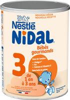 NESTLE NIDAL 3 Bébés Gourmands Lait de Croissance 800g dès 1 an - Prodotto - fr