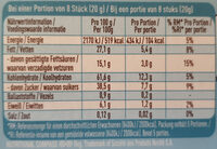 Choclait Chips Stracciatella - Informations nutritionnelles