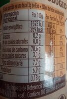 Eko Natural Agricultura Ecológica - Nutrition facts