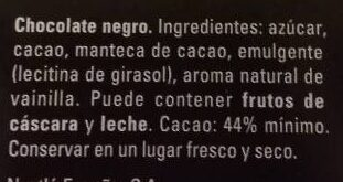 Dolca chocolate negro - Ingredients - es