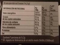 Dolca chocolate negro - Informació nutricional - es