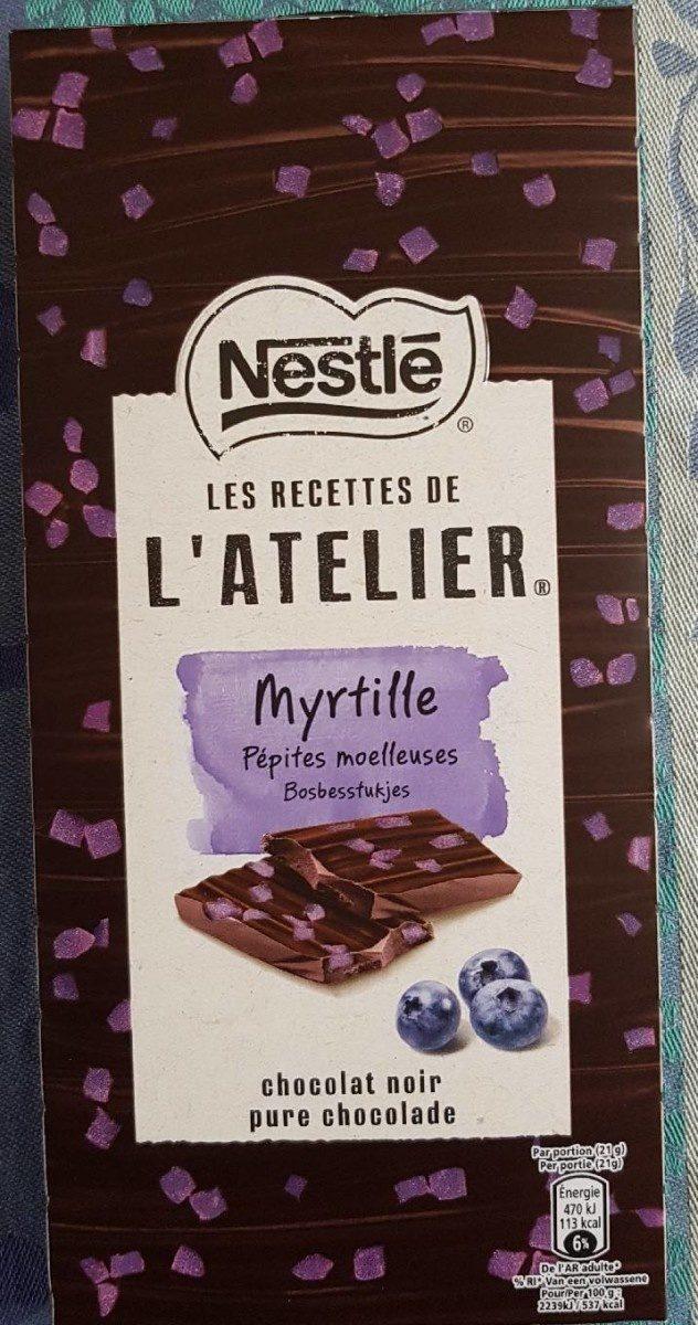 Chocolat noir myrtille - Produit - fr