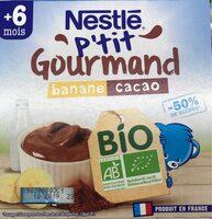 Nestlé p'tit gourmand banane cacao - Produit - fr