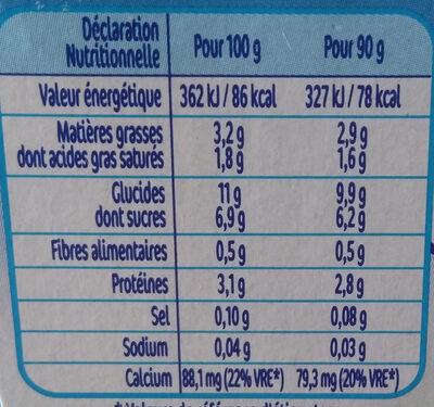 Nestlé p'tit gourmand banane cacao - Informations nutritionnelles - fr