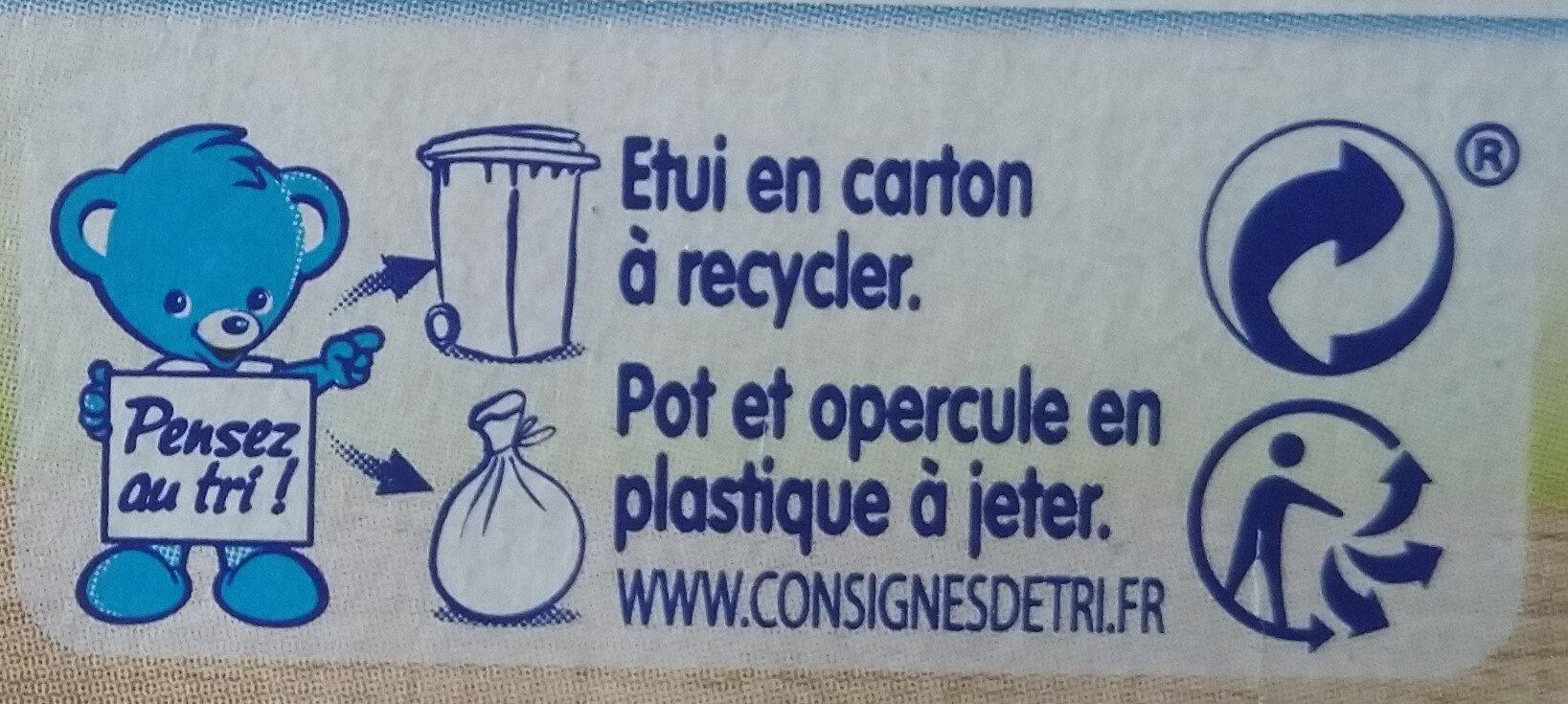 Nestlé p'tit gourmand banane cacao - Instruction de recyclage et/ou informations d'emballage - fr