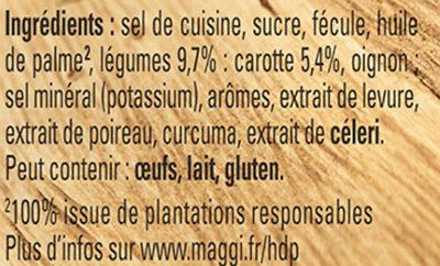 MAGGI Bouillon KUB Légumes Sel Réduit - Ingrediënten - fr