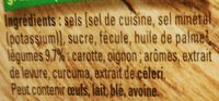 Bouillon KUB de légumes - Ingredients