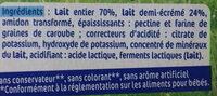 Nestlé p'tit onctueux - Ingredients