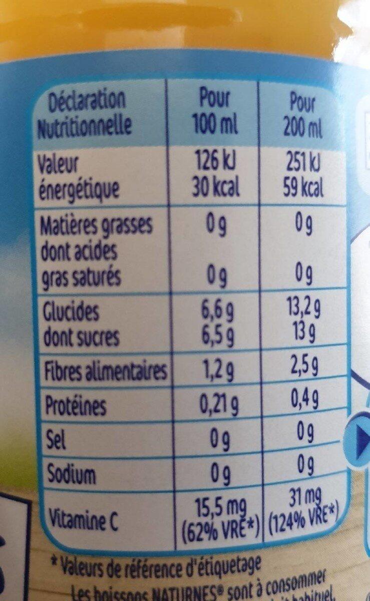 NATURNES BIO boisson pomme mangue - Valori nutrizionali - fr