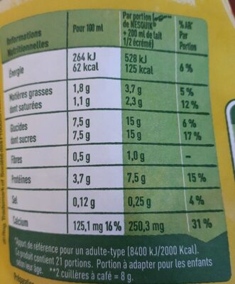 Nesquik all natural - Nutrition facts - fr