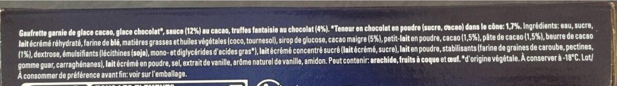 Adults only chocolat défendu - Ingrediënten - fr