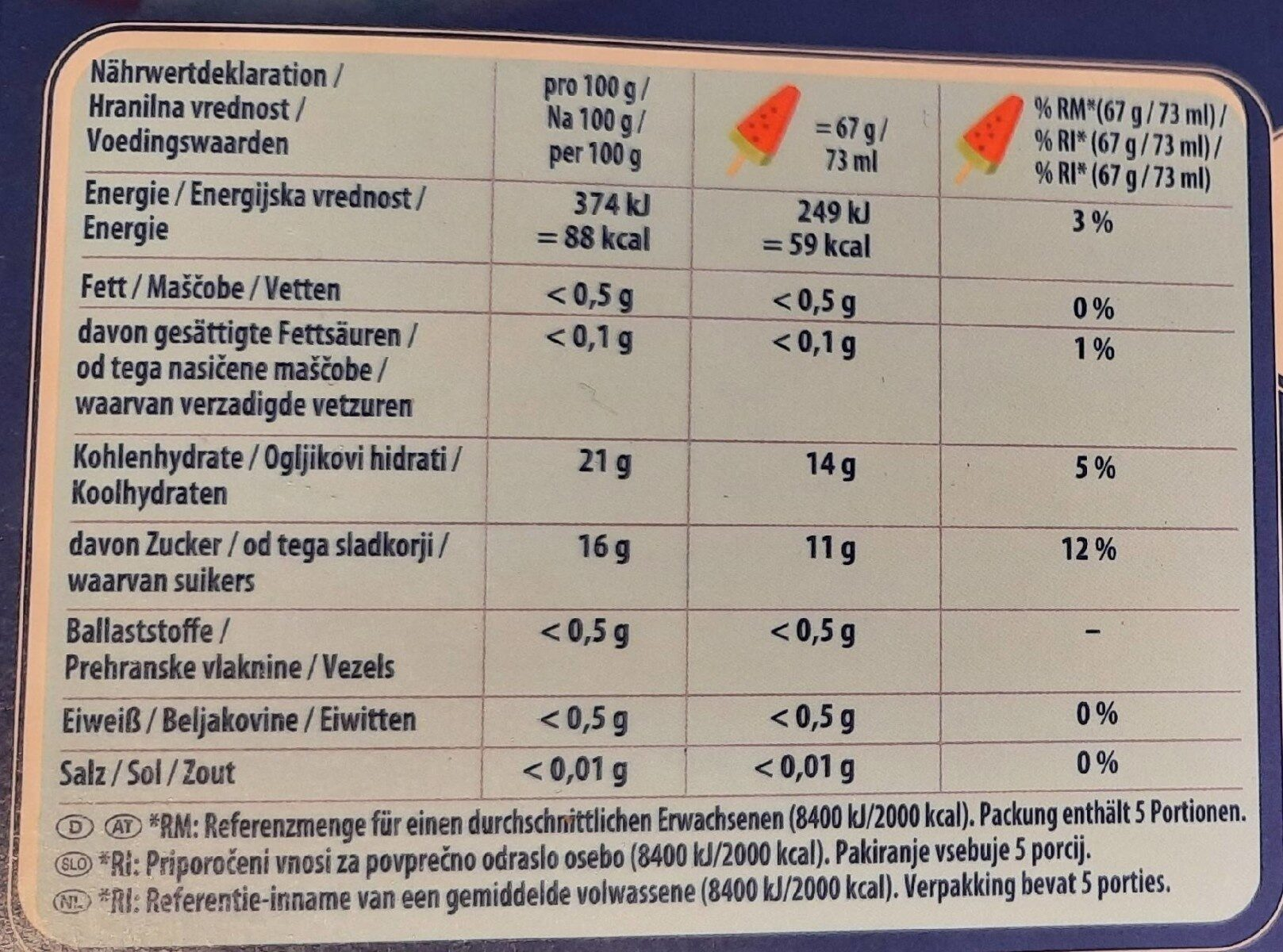 Pirulo Watermelon - Informations nutritionnelles - de