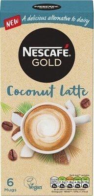 Gold Non-Dairy Coconut Latte Instant Coffee x 6 Sachets - Product - en