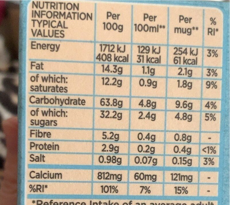 Gold Non-Dairy Coconut Latte Instant Coffee x 6 Sachets - Nutrition facts - en
