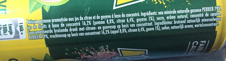 Perrier & Juice aux jus de Citron & Goyave - Ingrediënten - fr