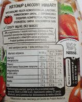 Ketchup łagodny - Informations nutritionnelles - pl