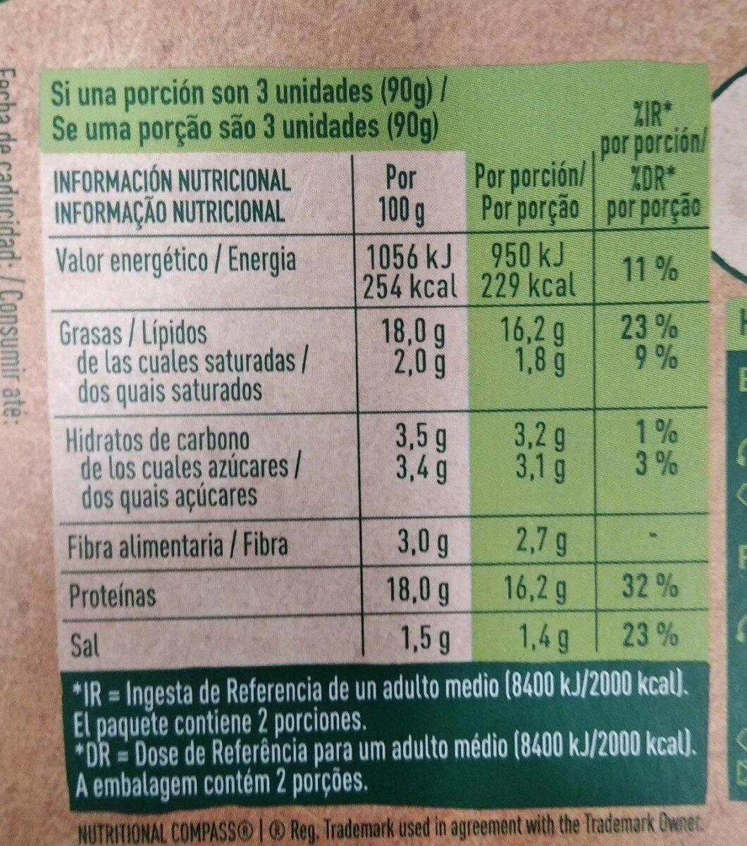 Salchichas Frankfurt vegetales - Voedingswaarden - es