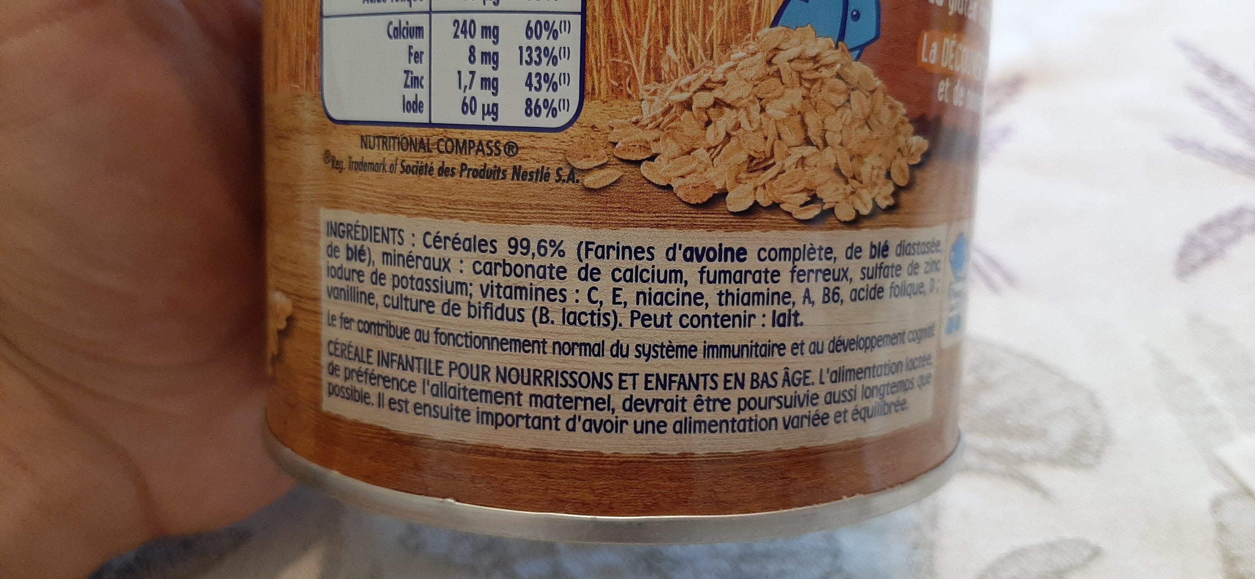 P'tite Céréale - Avoine Complète et Blé - Ingredienti - fr
