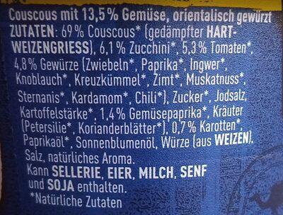 Orientalisches couscous - Zutaten - de
