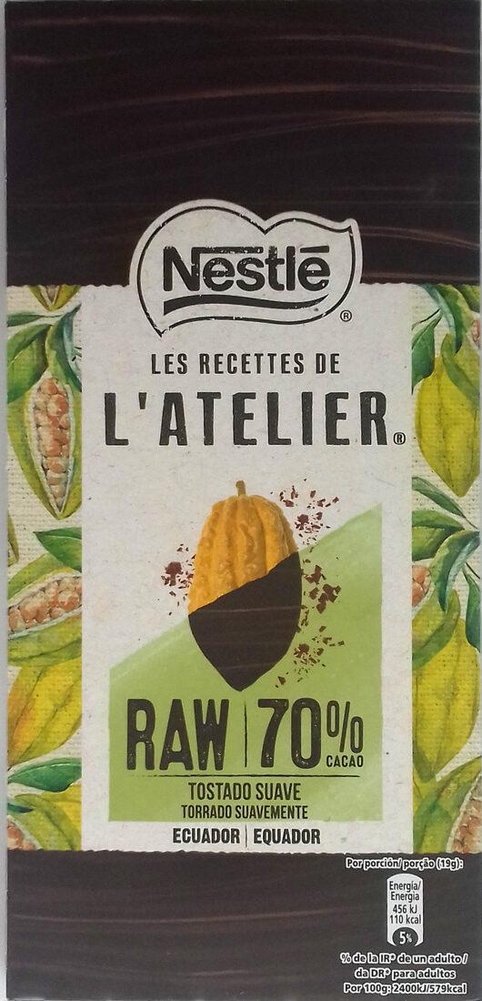 Raw chocolate negro de ecuador tostado suave - Producto