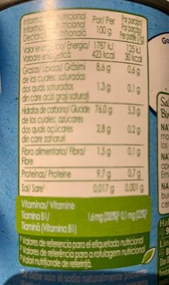 Naturnes bio - Nutrition facts - fr