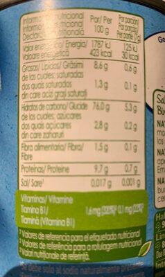 Naturnes bio - Información nutricional - fr