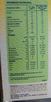 Cerelac 40% de sucres en moins - Informação nutricional - fr