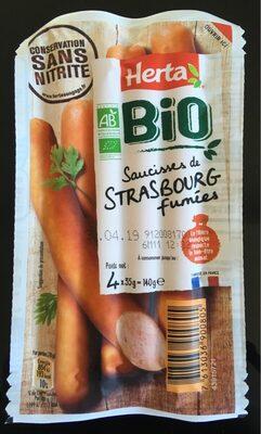Saucisses de strasbourg fumées bio conservation sans nitrites - Product