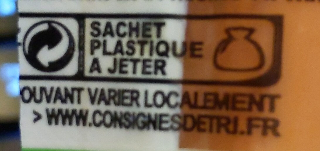 Saucisses de strasbourg fumées bio conservation sans nitrites - Recycling instructions and/or packaging information - fr