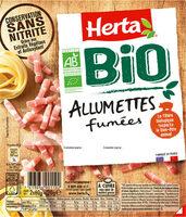HERTA BIO Lardons allumettes fumés - Prodotto - fr