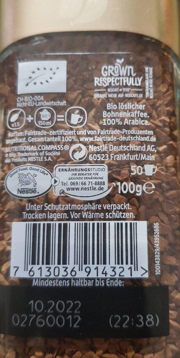 Nestcafe Gold Bio - Voedingswaarden - de