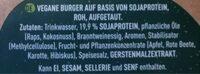 Sensational Burger aus Sojaprotein, roh - Ingredienti - de