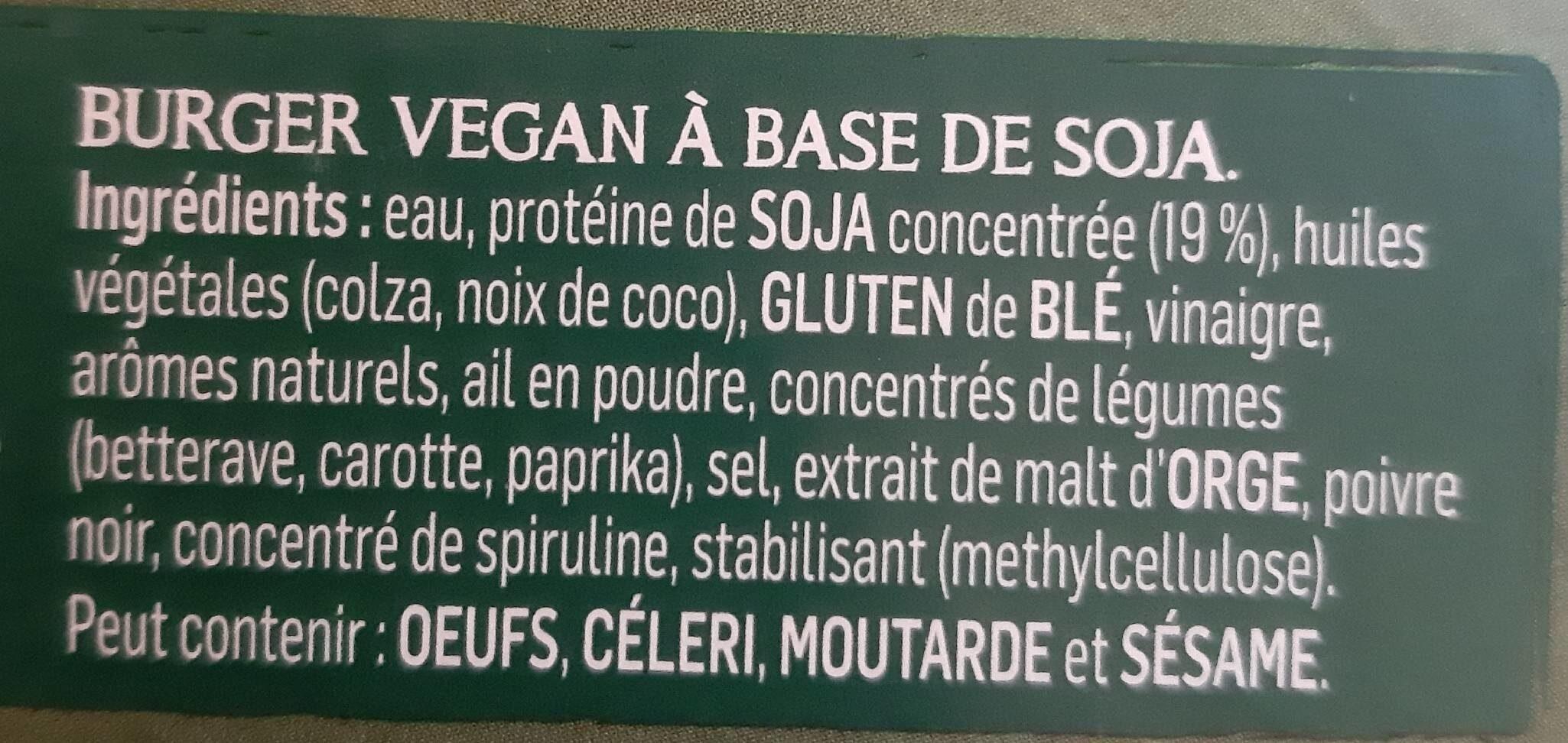 Incredible burger - Ingredients