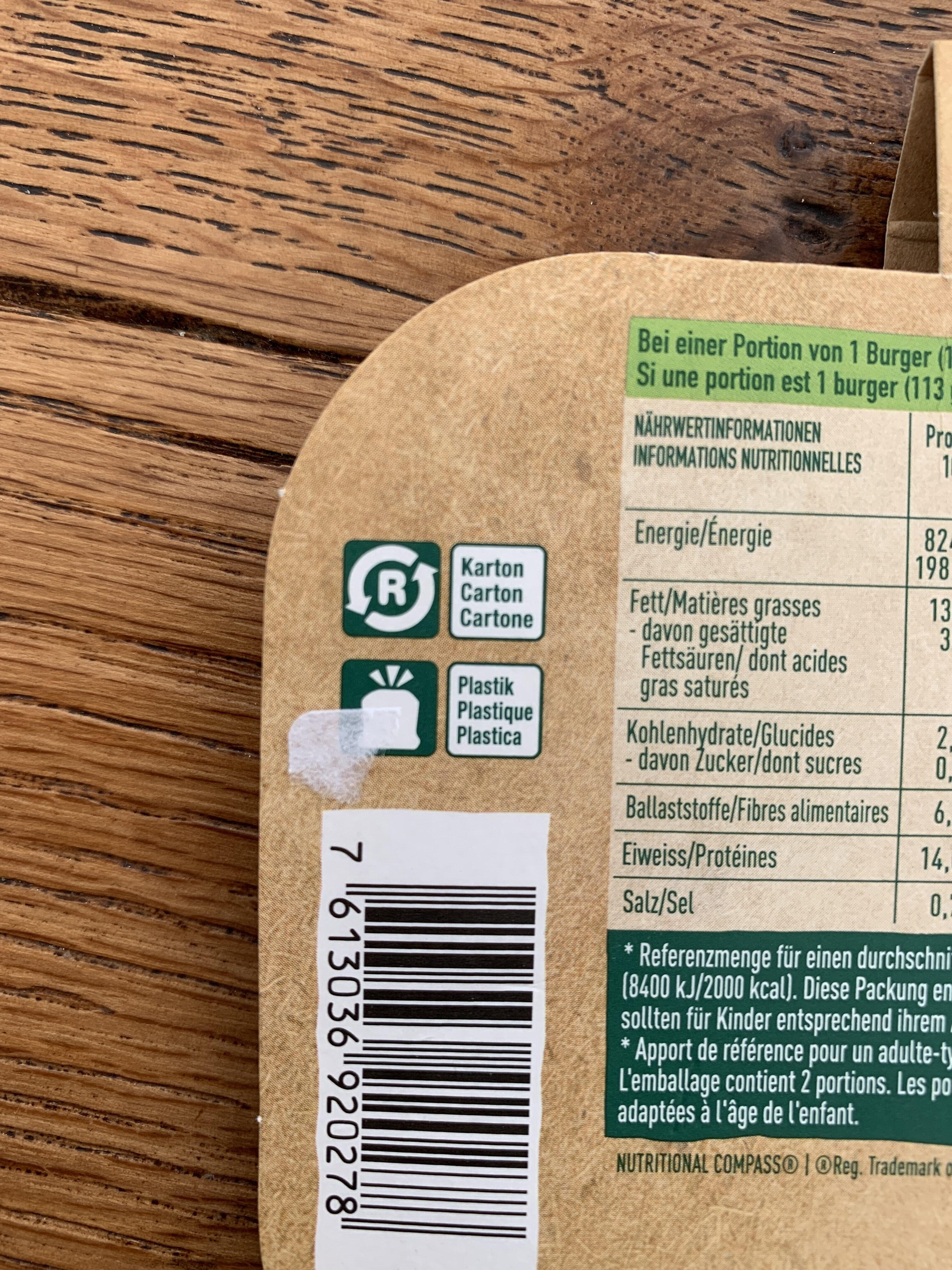 Sensational burger - Recycling instructions and/or packaging information - de