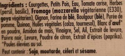 Palet gourmand - Ingrediënten - fr