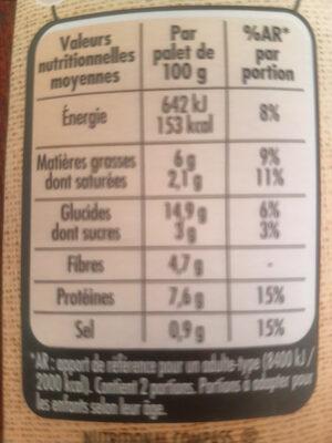 Palet gourmand - Voedingswaarden - fr
