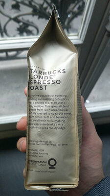 STARBUCKS café en grains dark blonde espresso - Valori nutrizionali - fr