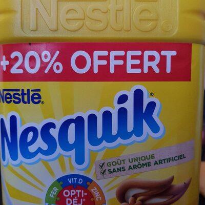 NESQUIK Poudre cacaotée boîte 1Kg + 20% offert - Informations nutritionnelles - fr