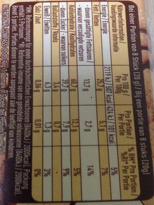 Chocolait Chips mit Spekulatius-Geschmack - Informations nutritionnelles - fr